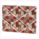 American Country Fabric Memo Board -34873