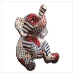 American Country Patchwork Sitting Elephant -34861