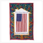 US Flag Pattern Cotton Sheet -34164