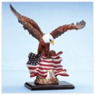 Eagle and Chicks with US Flag -34198