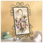Victorian Flowers Candle Holder -34225