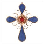 Blue and Orange Wall Cross -34317