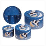 3 Pc. Cow Moon Compartment Box -34366