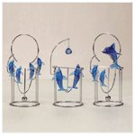Blue Dolphin Swinging Sculptures -34700
