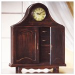Wood Mantel Clock Cabinet -34818