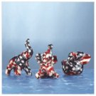 Mini American Flag Patchwork Elephants -34857