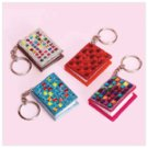 1-Dozen Mini Beaded Notebook Keychains -34549