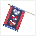 God Bless America Mini-Flag -90024