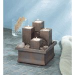 Tealight Pillar Water Fountain -36436