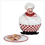 Chubby Chef Cookie Jar and Plate -34321