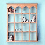 16-Compartment Wood Wall Curio -29476