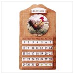Rooster Clock and Perpetual Calendar -33772
