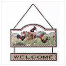 Wood Rooster Welcome Sign -34105