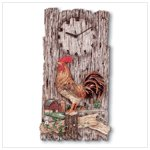 Alabastrite Rooster Wall Clock -31416