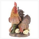 Porcelain Rooster Family -31331