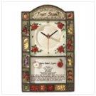 Alabastrite Fruit Stand Wall Clock -31178