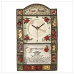 Alabastrite Fruit Stand Wall Clock -31178