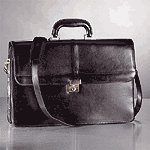 Black Top Grain Briefcase -25295