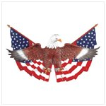 Eagle On Flag Wall Plaque -35030