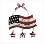 Wood Flag Wall Plaque -34190