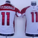 Larry Fitzgerald #11 White Arizona Cardinals Youth Jersey