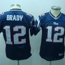 Tom Brady #12 Blue New England Patroits Youth Jersey