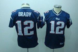 Tom Brady #12 Blue New England Patroits Youth Jersey