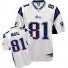 Randy Moss #81 White New England Patriots Youth Jersey