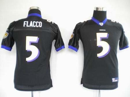 Joe Flacco #5 Black Baltimore Ravens Youth Jersey