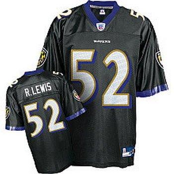 Ray Lewis #52 Black Baltimore Ravens Youth Jersey
