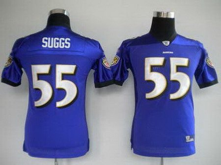 Terrell Suggs #55 Purple Baltimore Ravens Youth Jersey