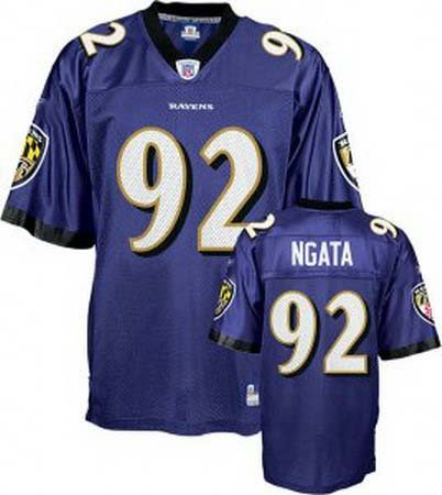 Hiloti Ngata #92 Purple Baltimore Ravens Youth Jersey