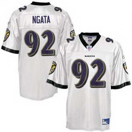 Hiloti Ngata #92 White Baltimore Ravens Youth Jersey