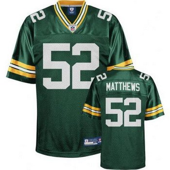 Clay Matthews #52 Green Green Bay Packers Youth Jersey