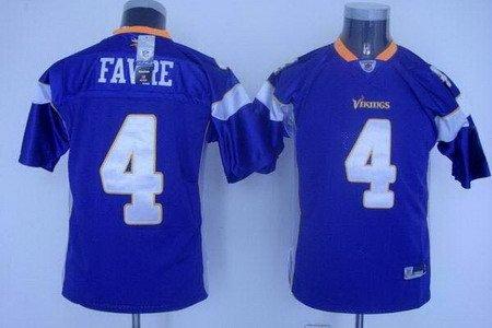 Brett Favre #4 Purple Minnesota Vikings Youth Jersey