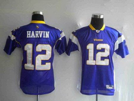 Percy Harvin #12 Purple Minnesota Vikings Youth Jersey
