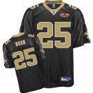Reggie Bush #25 Black New Orleans Saints Youth Jersey