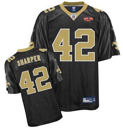 Darren Sharper #42 Black New Orleans Saints Youth Jersey