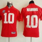 Eli Manning #10 Red New York Giants Youth Jersey