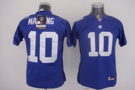 Eli Manning #10 Blue New York Giants Youth Jersey