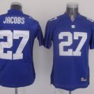 Brandon Jacobs #27 Blue New York Giants Youth Jersey