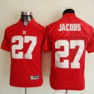 Brandon Jacobs #27 Red New York Giants Youth Jersey
