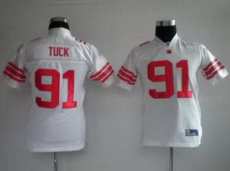 Justin Tuck #91 White New York Giants Youth Jersey