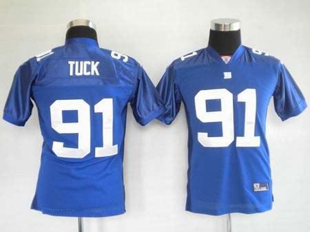 Justin Tuck #91 Blue New York Giants Youth Jersey