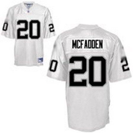 Darren McFadden #20 White Oakland Raiders Youth Jersey