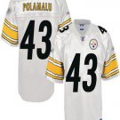 Troy Polamalu #43 White Pittsburgh Steelers Youth Jersey