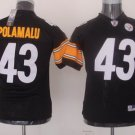 Troy Polamalu #43 Black Pittsburgh Steelers Youth Jersey