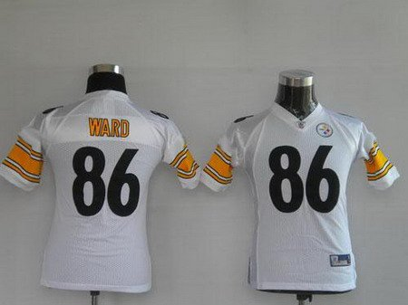 Hines Ward #86 White Pittsburgh Steelers Youth Jersey