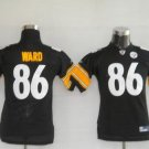 Hines Ward #86 Black Pittsburgh Steelers Youth Jersey
