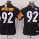 James Harrison #92 Black Pittsburgh Steelers Youth Jersey